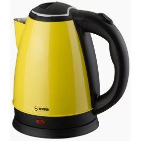 Чайник электрический из нерж.стали hottek ht-970-004 1,8л, 1800 вт желтый-970-004