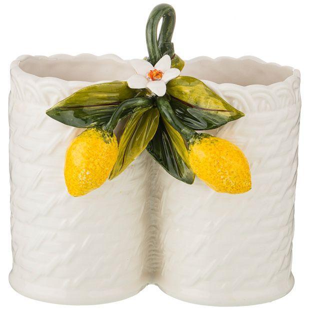 """Подставка под кухонные приборы """"лимоны""""  высота 18 см-335-383"""