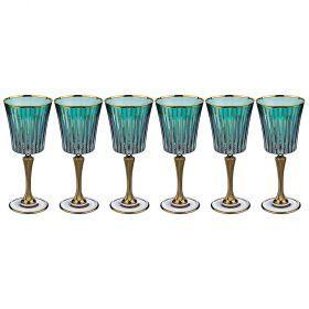 Набор бокалов для вина из 6 шт. 250 мл. высота=21 см.-103-547