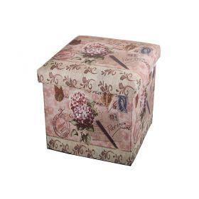 Пуфик декоративный складнойиз серии милый прованс-4 30*30*30 см.без упаковки