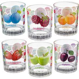 Набор стаканов из 6 шт.200 мл.высота=9 см.-181-116
