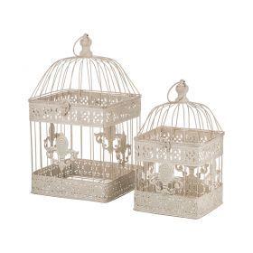 Набор клеток для птиц декоративных из 2-х шт.l:23*44,s:18*40 см-123-176