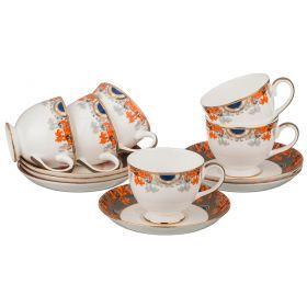Чайный набор на 6 персон 12 пр. 250 мл.-22-1077
