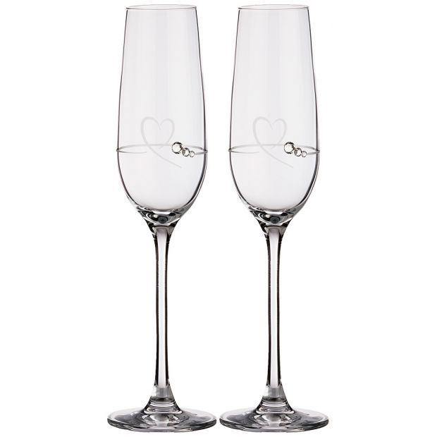 """Набор бокалов для шампанского из 2 штук """"heart"""" 150 мл-681-119"""