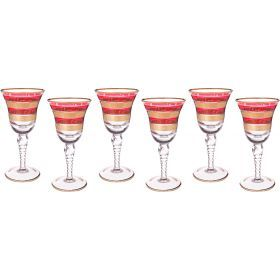 Набор бокалов для вина из 6 шт.250 мл.высота=19 см.-103-474