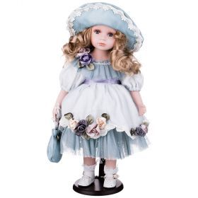 Кукла фарфоровая высота=48 см.-346-223