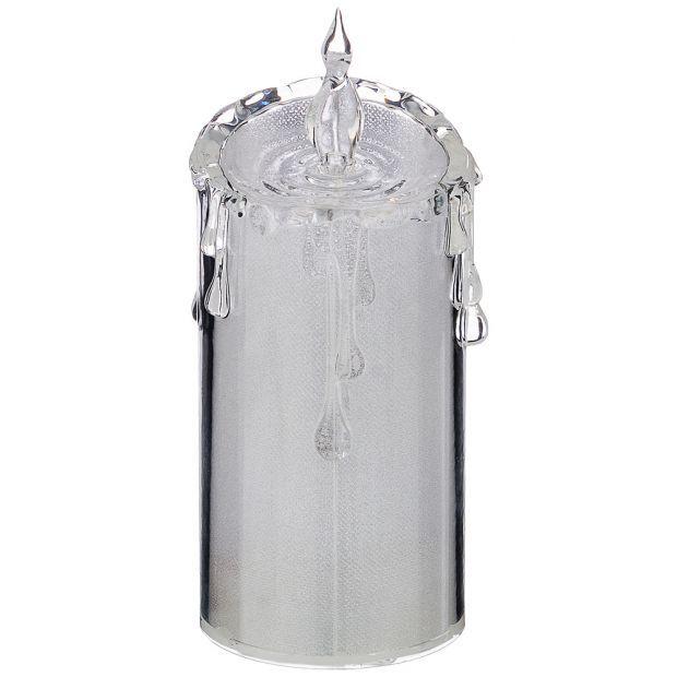 """Фигурка """"свеча декоративная"""" диаметр=7,5 см высота=18 см дизайн: горный хрусталь без упаковки мал=24-234-150"""