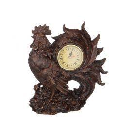 Часы петух защита дома цвет:венге 19*10 см. высота=21 см. диаметр циферблата=6 см.