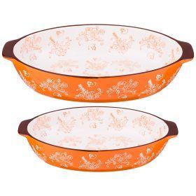 Набор блюд для запекания из 2 шт. 36*22/29*18 см. высота=7/6 см.-536-181