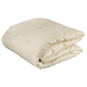 Одеяло кашемир 200*220 см, верх тик-100% хлопок, наполнитель:100% высокосиликониз.волокно, крем