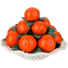 Декоративное блюдо с мандаринами диаметр=27 см. высота=21 см.-697-088