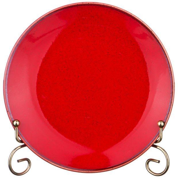 Тарелка seasons 18 см цвет красный (кор=12шт.)-664-172