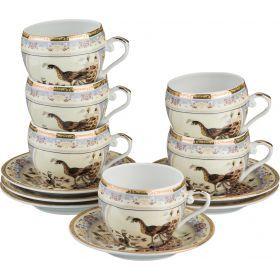 Кофейный набор на 6 персон 12 пр. 100 мл.-69-1774