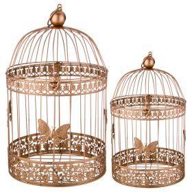 Набор клеток для птиц декоративных из 2-х шт.l:25*41,s:20*30 см-123-222