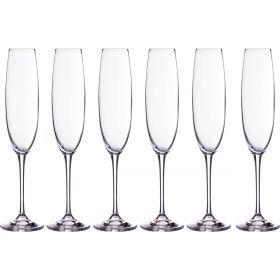 Набор бокалов для шампанского из 6 шт. «эста» 250 мл. высота=28 см.-669-197