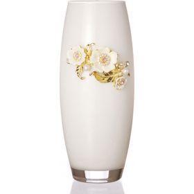 Ваза флора белая высота=26 см-802-160712