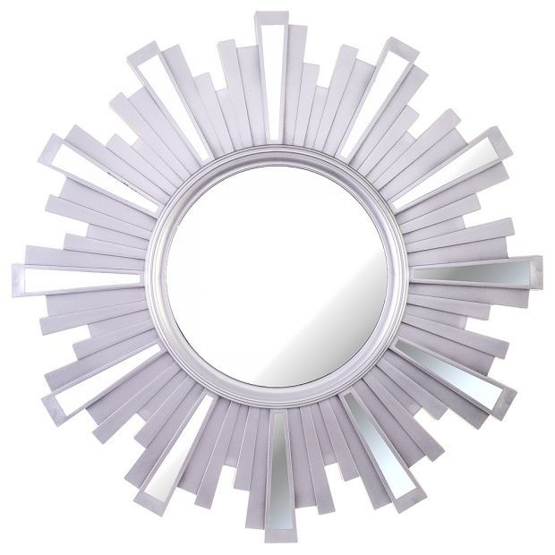 "Зеркало настенное ""swiss home"" 52 см цвет: серебро (кор=4шт.)-220-419"