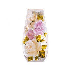 Ваза декоративная ветка розы бежевая  высота=31,5 см-135-5009