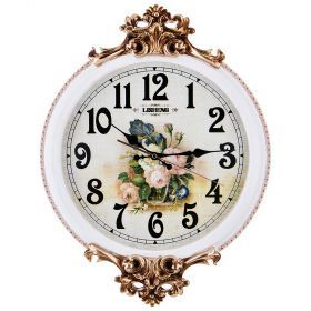 Часы настенные кварцевые 40*6,5*54 см. диаметр циферблата=32 см.-204-215