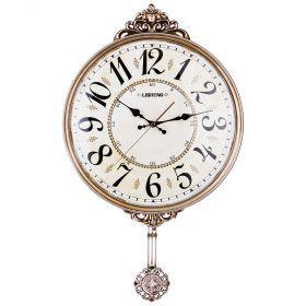 Часы настенные кварцевые с маятником 42*6*70 см. диаметр циферблата=38 см.-204-193