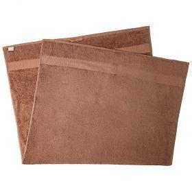 Полотенце махровое с бордюром 90*160см, в упаковкеке, 100% хб, пл 450 г/м2 , светло-коричневый-850-100-2