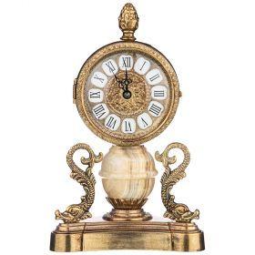 Часы настольные (кварцевые) высота 14,5 см циферблата 9 см-292-034