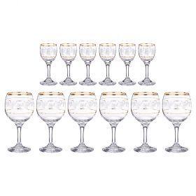Набор на 6 персон 12 пр.:6 рюмок для водки 50 мл. + 6 бокалов для вина 250 мл.-381-399