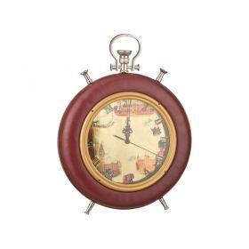 Часы кварцевые настольные 38*32.5*13 см.диаметр циферблата=21 см.-184-304