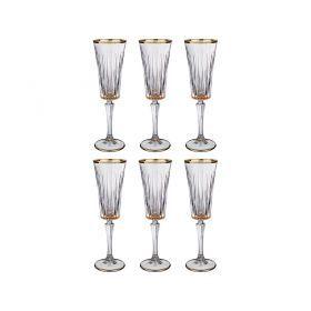 Набор бокалов для шампанского из 6 шт. 180 мл. высота=24 см.-103-580