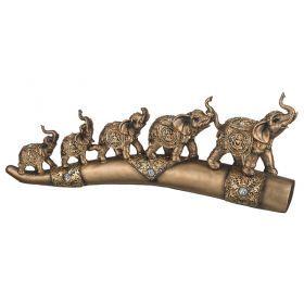 Фигурка пять слонов 55*7*21,5см