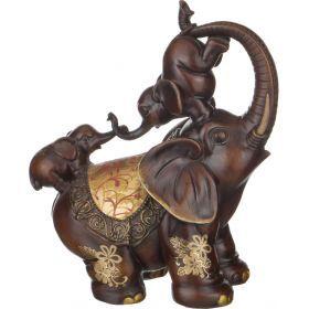 Фигурка слониха со слоненкомдолгожданное потомство 26*14 см. высота=33 см.