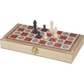 Игра для взрослых шахматы+шашки+нарды 29*14*4 см.
