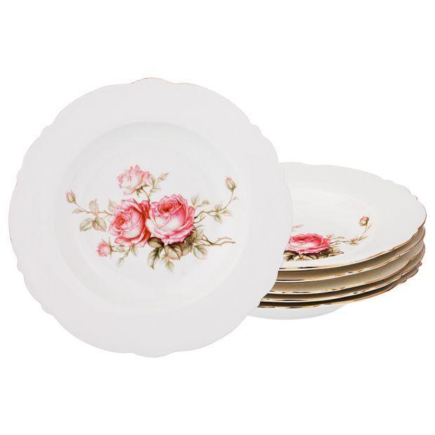 Набор глубоких тарелок из 6-ти шт. диаметр=23 см (кор=10наб.)-590-259