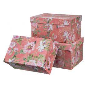 Набор подарочных коробок из 3 шт. 26*19*14/24*17*12,5/22*15*11 см.-37-250