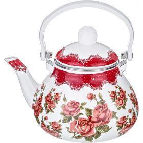 Чайник эмалированный с фильтром из нжс 1,3 л.-934-352