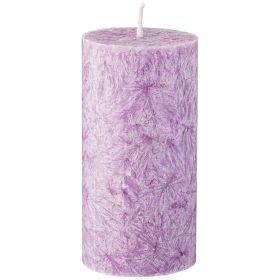 Свеча ароматическая стеариновая столбик высокий lavender диаметр 6 см высота 12 см-348-786