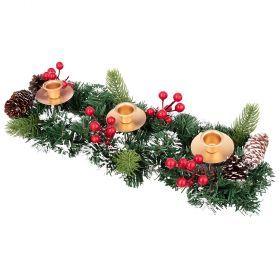 Подсвечник золотой декорированный на 3 свечи 40*15 см-161-213
