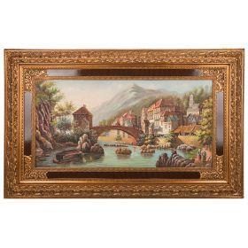 Картина масляная на холсте 119*59 см. багет 161*101 см.