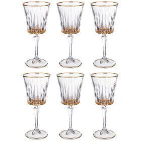 Набор бокалов для вина из 6 шт. 250 мл. высота=21 см.-103-581