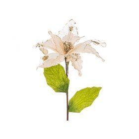 Цветок искусственный пуансетия диаметр=32см на клипсе