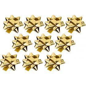 Набор бантиков из 10 шт.длина=8 см цвет:золото-224-065