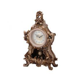 Часы настольные кварцевые с маятником цветы цвет: состаренное золото 20*18,5*36,5 см. д. циф.=9см.