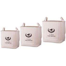 Набор корзин для белья с ручками из 3-х шт l: 43*34*42/m:39*30*39/s:35*26*37 см.-190-184