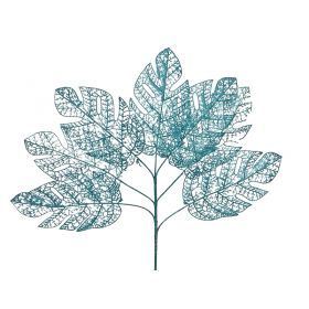 Изделие декоративное ветка длина=72см. голубой