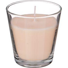 Ароматическая свеча в стакане диаметр=8 см. высота=9 см. цвет белый-602-071