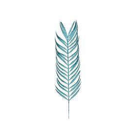 Изделие декоративное лист длина=58см. голубой