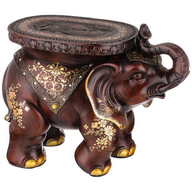 """Фигурка слон """"привлечение удачи и благополучия"""" 60*28см.высота=48 см. (кор=1шт.)-114-415"""
