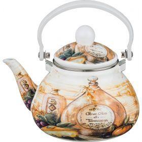 Чайник эмалированный с фильтром из нжс 1,3 л.-934-348