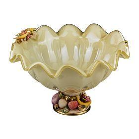 Декоративная чаша 35*32 см.высота=22 см.