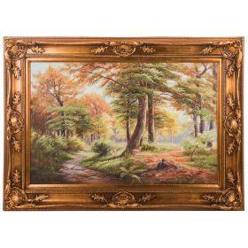 Картина масляная на холсте 89*59 см. багет 113*85 см.-107-1082